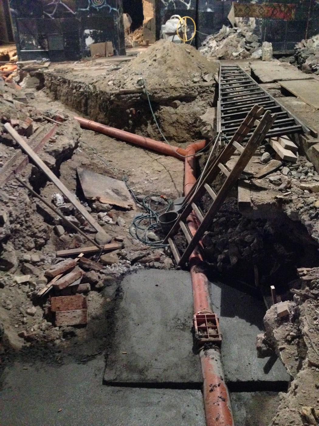 Položení nové kanalizace
